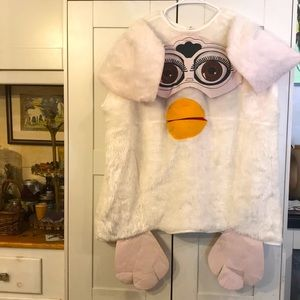VINTAGE Early 2000s White Furby Costume FLUFFY S